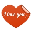 Words I Love You on heart symbol vector image vector image