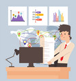 work in office manager logistic company vector image
