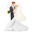 Happy beautiful hugging couple in love vector image