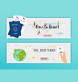 travel around the world online booking ticked vector image