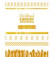 international childhood cancer day vector image