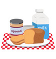 a breakfast set on white background vector image