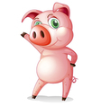 A pig dancing vector image vector image
