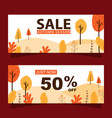 autumn sale banners set vector image vector image