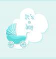 bashower boy invitation card design vector image