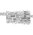 best way to lose weight fast text word cloud vector image vector image