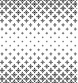 Black and white polygon pattern background vector image vector image