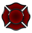 blank fire department logo base red and black vector image vector image