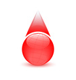 Blood drop globe sign donor day vector image