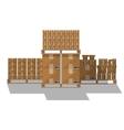 Brown carton box wooden pallet vector image vector image