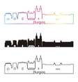 Burgos skyline linear style with rainbow vector image vector image