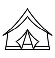 camp tent icon outline style vector image