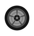 Car wheel icon flat style vector image vector image