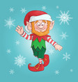 cartoon elf of elf character vector image vector image