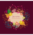 Cartoon floral background vector image vector image