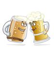 Cartoon hero beer tankard vector image vector image
