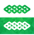 celtic knot - irish traditional symbol vector image