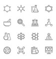 chemistry concept icons or elements in vector image vector image