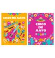 cinco de mayo poster mexican party mexico latin vector image