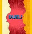 comic duel explosive template vector image