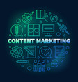 content marketing round colored vector image vector image