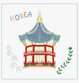 doodle flat arbor pagoda in vector image vector image