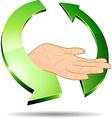 Eco hand vector image