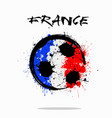 flag of france as an abstract soccer ball vector image