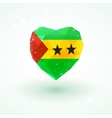 Flag of Sao Tome and Principe in shape diamond vector image