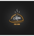 food and drink menu design background vector image vector image