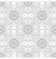 gray flower pattern seamless vector image vector image