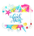 hand lettering summer phrase surrounded vector image vector image