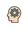 head with gear brain process knowledge vector image