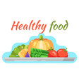 healthy food vegetable flat design vector image vector image