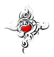 Heart shape in tribal style tattoo vector image vector image