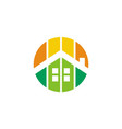 home residence real estate logo icon vector image vector image
