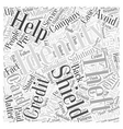 identity theft shield Word Cloud Concept vector image vector image