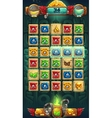 Jungle shamans GUI playing field vector image vector image