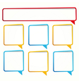 Long and square sticker in the form of an empty vector image vector image