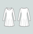 long-sleeved dress vector image vector image
