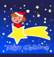 merry christmas comet vector image vector image