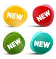 New Circle Labels - Tags - Stickers Set vector image