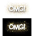 Omg paper banners vector image vector image