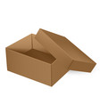 packaging top view open thick brown packaging vector image vector image