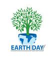 postcard congratulations on earth day vector image