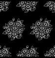 seamless daisy white outline background vector image vector image