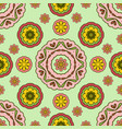 seamless pattern with floral ornament sunny warm vector image