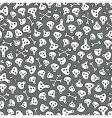 skull background vector image vector image