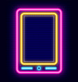 smartphone neon sign icon phone in retro style vector image vector image