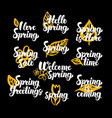 springtime hand drawn quotes vector image